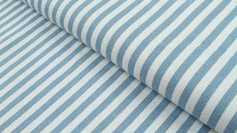 Baumwoll-Jeansstoff hellblau-weiß: Streifen - 150 cm kaufen im Makerist Materialshop