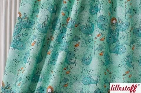 Lillestoff Bio-Jersey mint: Die Kleine Wasserfrau - 160 cm kaufen im Makerist Materialshop