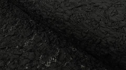 Nylon-Spitze schwarz elastisch: Franzi - 137 cm kaufen im Makerist Materialshop