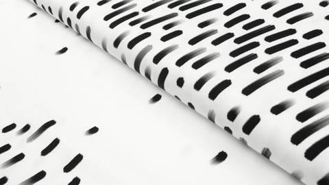 Albstoffe Bio-Baumwolljersey weiß: Mono Swipe - 160 cm kaufen im Makerist Materialshop