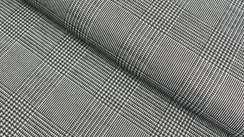 Elastischer Blazerstoff schwarz-weiß kariert: Check Stanford - 150 cm kaufen im Makerist Materialshop