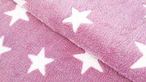 Jacquard Fleece pink: Sterne - 150 cm kaufen im Makerist Materialshop