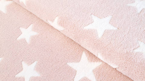 Jacquard Fleece hellrosa: Sterne - 150 cm kaufen im Makerist Materialshop