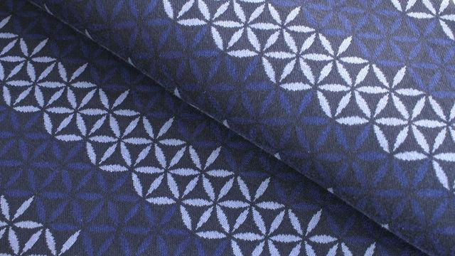Jacquardstoff dunkelblau: Avalana Eisblumen - 160 cm im Makerist Materialshop - Bild 1