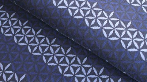 Jacquardstoff dunkelblau: Avalana Eisblumen - 160 cm kaufen im Makerist Materialshop