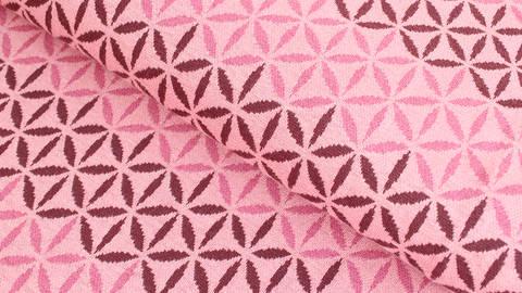 Jacquardstoff rosa: Avalana Eisblumen - 160 cm kaufen im Makerist Materialshop