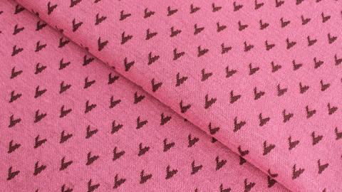 Jacquardstoff rosa: Avalana Herzen - 160 cm kaufen im Makerist Materialshop