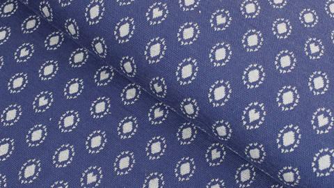 Jacquardstoff dunkelblau: Avalana Herzen und Kreise - 160 cm im Makerist Materialshop