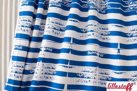 Lillestoff Bio-Jersey blau-weiß: Francy Blue - 150 cm kaufen im Makerist Materialshop