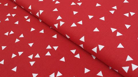 Baumwollstoff Dreieck rot: Triangle - 150 cm kaufen im Makerist Materialshop