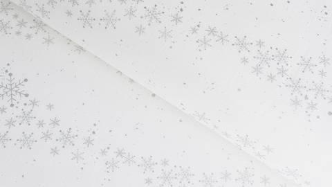 Baumwollstoff weiß Glitzer Eiskristalle - 112 cm kaufen im Makerist Materialshop