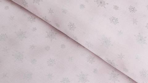 Baumwollstoff flieder: Glitzer Eiskristalle - 112 cm kaufen im Makerist Materialshop