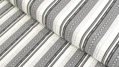 Baumwolljersey grau-beige: Ethno-Muster - 165 cm kaufen im Makerist Materialshop