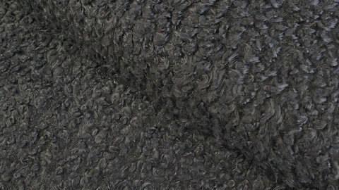 Kunstfell kurzhaar schwarz: Bouclé - 147 cm im Makerist Materialshop