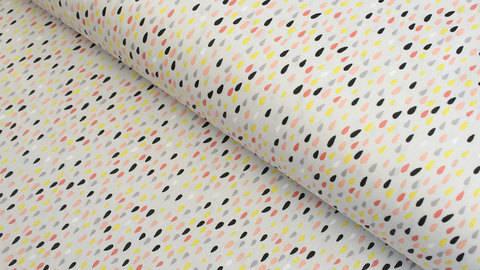 Regenjackenstoff grau: Bunte Regentropfen - 150 cm kaufen im Makerist Materialshop
