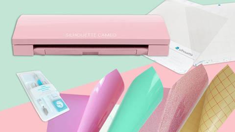 XXL Starter-Set Cameo 3 - LIMITIERTE GLITTER EDITION - rosa kaufen im Makerist Materialshop