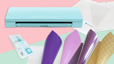 XXL Starter-Set Cameo 3 - LIMITIERTE GLITTER EDITION - hellblau  kaufen im Makerist Materialshop