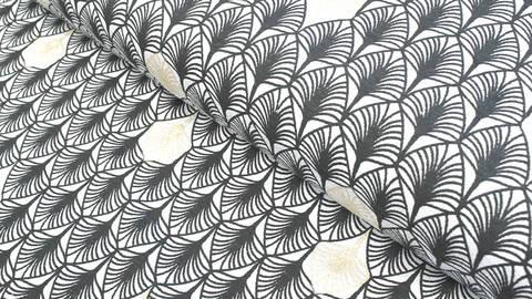 Baumwolljersey schwarz-grau: Charleston - 150 cm kaufen im Makerist Materialshop