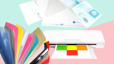 XXL Starter-Set Hobbyplotter Silhouette Cameo 3 in weiß inkl. 25 Euro Gutschein kaufen im Makerist Materialshop