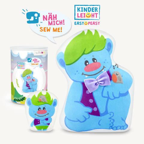 "Kinder Nähset Kuschelfigur Troll ""Wilbald"" von kullaloo kaufen im Makerist Materialshop"
