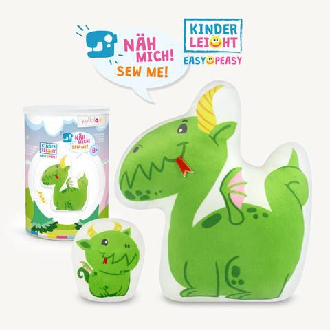"Kinder Nähset Kuschelfigur Drache ""Furi"" von kullaloo kaufen im Makerist Materialshop"