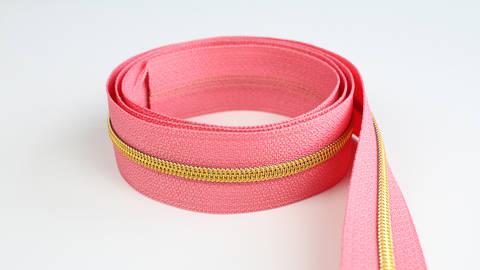 Endlosreißverschluss: gold-lachsfarben - 4 mm  kaufen im Makerist Materialshop
