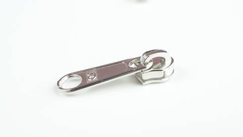 Reißverschluss-Schieber silber - 4 mm  kaufen im Makerist Materialshop