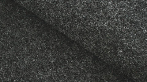 Walkstoff uni dunkelgrau melange: Boiled Wool - 140 cm kaufen im Makerist Materialshop