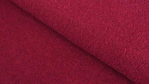 Walkstoff uni weinrot: Boiled Wool - 140 cm kaufen im Makerist Materialshop