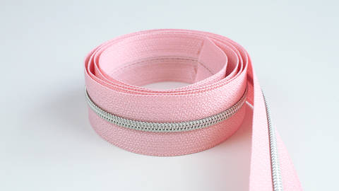 Acheter Fermeture à glissière sans fin : rose argenté - 4 mm dans la mercerie Makerist