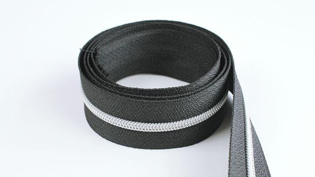 Acheter Fermeture à glissière sans fin : noir argenté - 4 mm - Kurzwaren und Zubehör dans la mercerie Makerist
