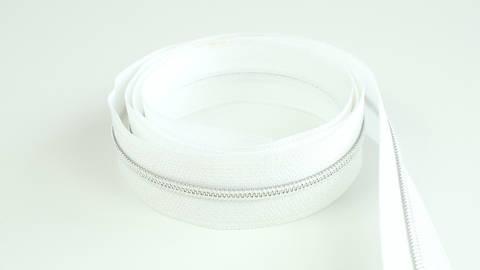 Endlosreißverschluss: silber-weiß - 4 mm  kaufen im Makerist Materialshop