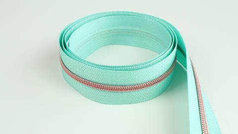 Endlosreißverschluss: kupfer-mint - 4 mm  kaufen im Makerist Materialshop