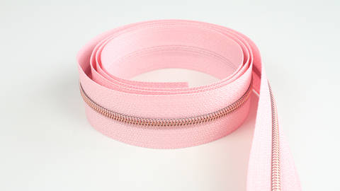 Endlosreißverschluss: kupfer-rosa - 4 mm  kaufen im Makerist Materialshop
