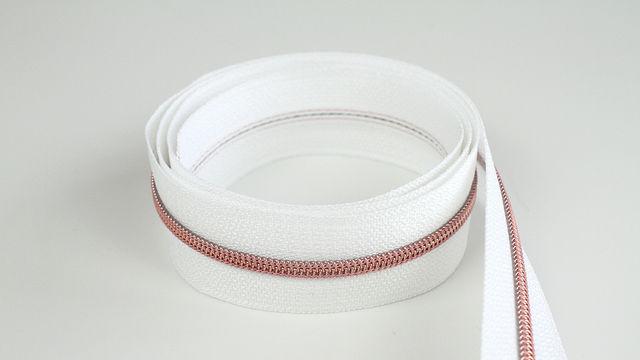 Acheter Fermeture à glissière sans fin : blanc cuivré - 4 mm - Kurzwaren und Zubehör dans la mercerie Makerist