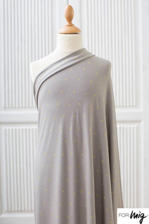 Lillestoff Modalstoff grau: Golden Stars - 160 cm kaufen im Makerist Materialshop