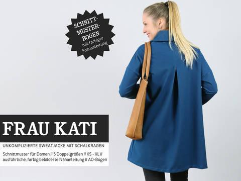 Studio Schnittreif - Schnittmuster und Nähanleitung gedruckt: Frau Kati Sweatjacke mit Schalkragen  kaufen im Makerist Materialshop