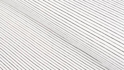 Baumwolljersey ecru-blau: Lurex-Streifen - 150 cm kaufen im Makerist Materialshop