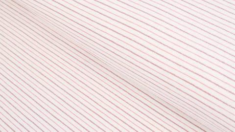 Baumwolljersey ecru-rosa: Lurex-Streifen - 150 cm kaufen im Makerist Materialshop