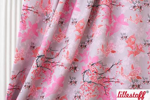 Lillestoff Bio-Summersweat rosa-rot: Koi - 160 cm kaufen im Makerist Materialshop