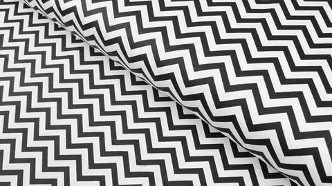 Baumwollstoff schwarz weiß: Zick Zack - 160 cm kaufen im Makerist Materialshop