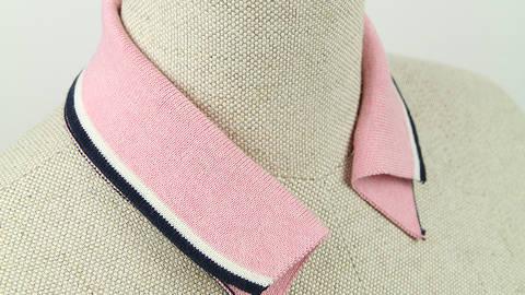 Polokragen - rosa navy kaufen im Makerist Materialshop