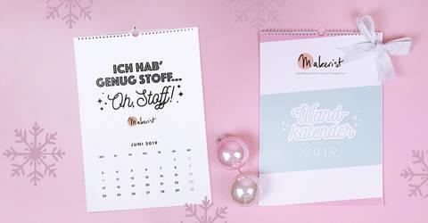 Monatswandkalender DIN A3 2019 von Makerist im Makerist Materialshop