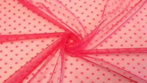 Tüllstoff pink: Punkte - 160 cm kaufen im Makerist Materialshop