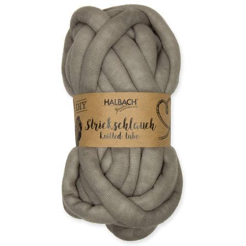 Strickschlauch grau: Knittted Tube - 15 mm kaufen im Makerist Materialshop
