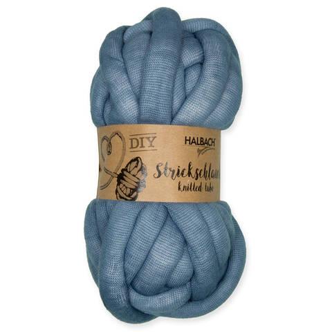 Strickschlauch rauchblau: Knittted Tube - 15 mm kaufen im Makerist Materialshop