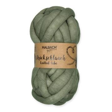 Strickschlauch dunkelgrün: Knittted Tube - 15 mm - Wolle und Garn kaufen im Makerist Materialshop