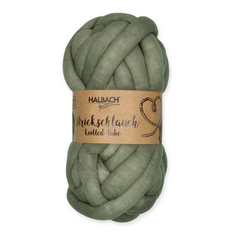 Strickschlauch dunkelgrün: Knittted Tube - 15 mm kaufen im Makerist Materialshop