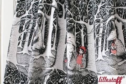 Lillestoff Bio-Jersey: Rotkäppchen Im Dunklen Wald - 160 cm kaufen im Makerist Materialshop