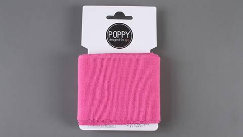 Bündchen uni pink: elastische Cuffs  kaufen im Makerist Materialshop